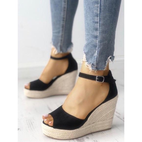 7f4ac9221bf 🔅Size 6 Only🔅Espadrilles Wedges Platform Sandals Boutique